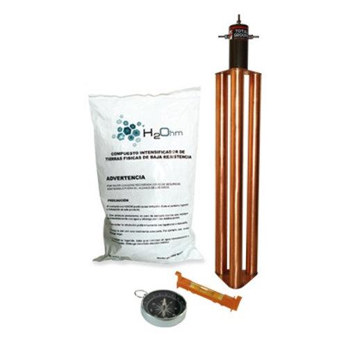 Kit de Puesta a Tierra de 100 Amperes con Electrodo TOTAL GROUND