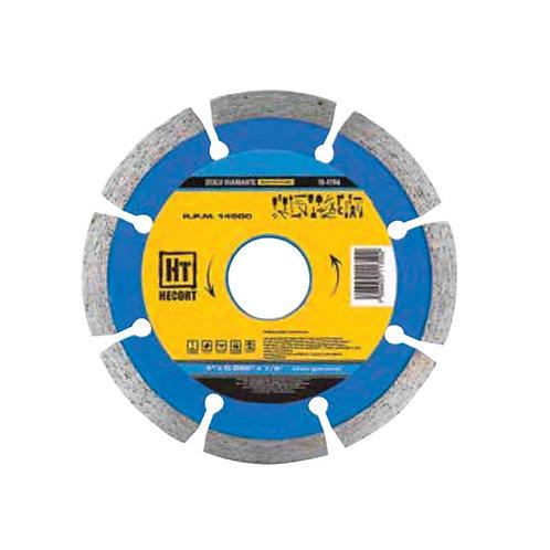 DISCO DIAMANTE SEGMENTADO 4 1/2 HECORT MODELO 10-0705
