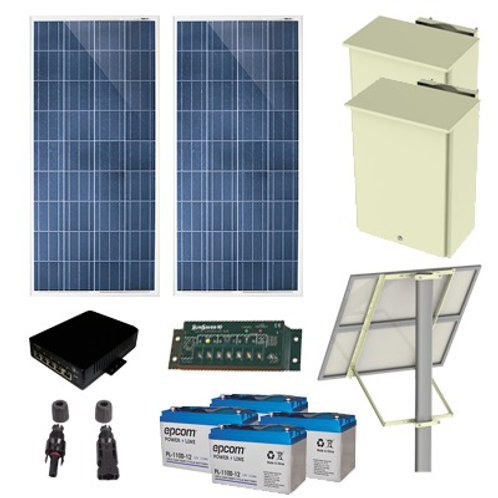 Kit Solar de 35 W con 4 Puertos PoE 802.3af/at EPCOM POWERLINE