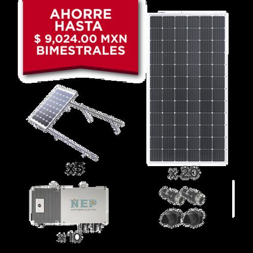 Kit Solar para interconexión de 5.5 kW de Potencia ECO GREEN ENERGY GROUP LIMITE