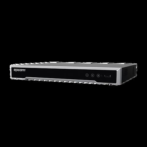 DVR 8 Megapixel / 8 Canales 4K TURBOHD + 8 Canales IP / 1 Bahía de Disco Duro