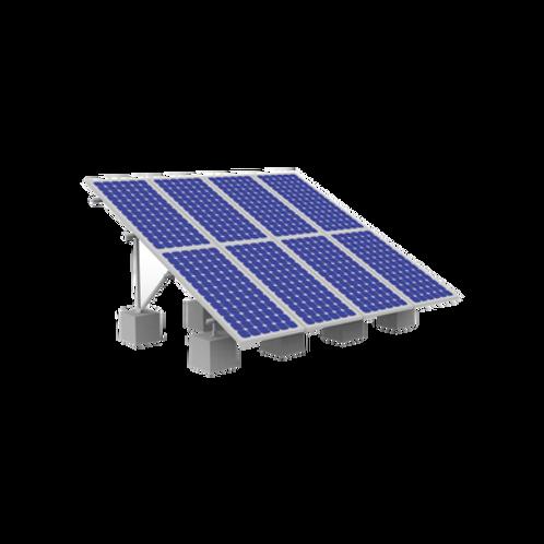 Montaje de aluminio en techo o piso de concreto EPCOM POWERLINE