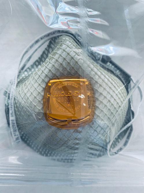 Mascarilla Respirador N95 con válvula Moldex paquete 10 piezas
