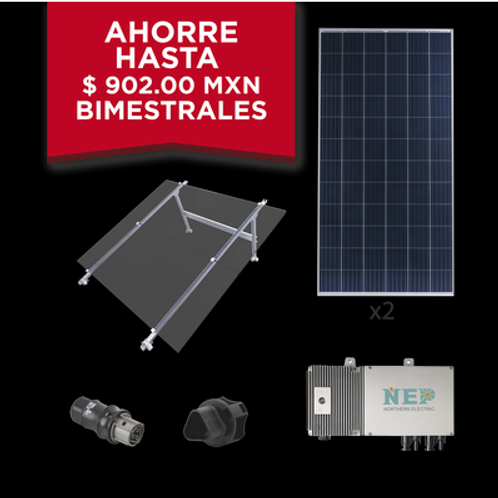 Kit Solar para Interconexión de 550 W de Potencia, 220 Vca con Microinversores y