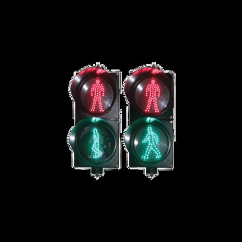 Semáforo peatonal con indicador alto/siga estático