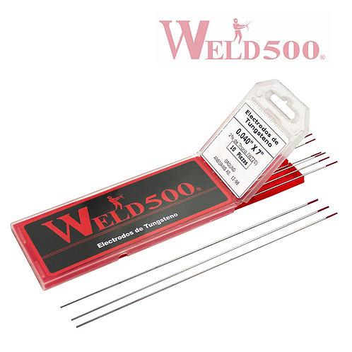 ELECTRODOS DE TUNGSTENO 2% TH 1/8''x 7''WELD500