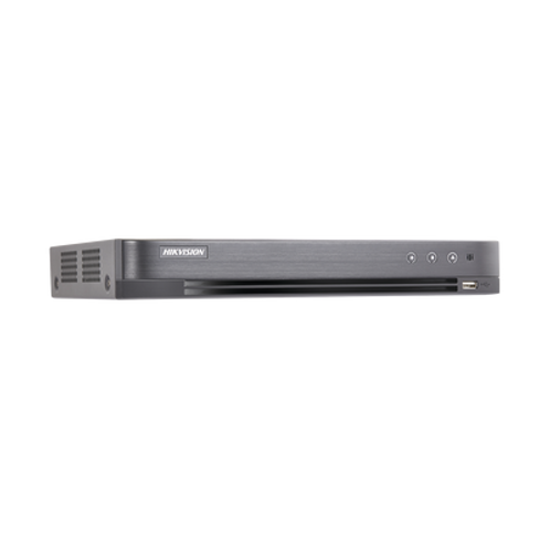 DVR 4 Megapixel / 8 Canales TURBOHD + 4 Canales IP / 1 Bahía de Disco Duro
