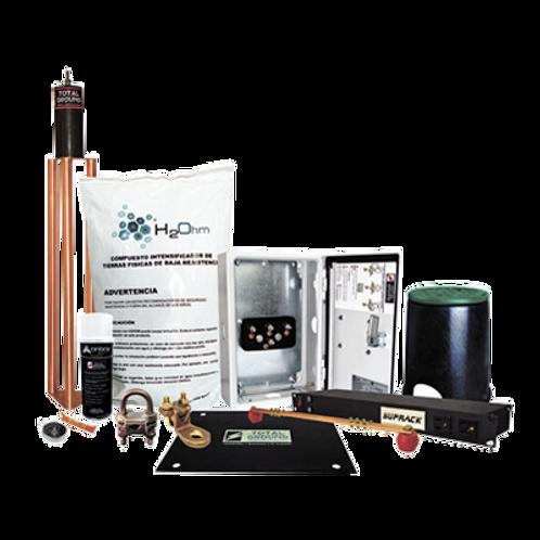 Kit de Tierra Física Recomendada para Cuartos de Telecomunicaciones TOTAL GROUND