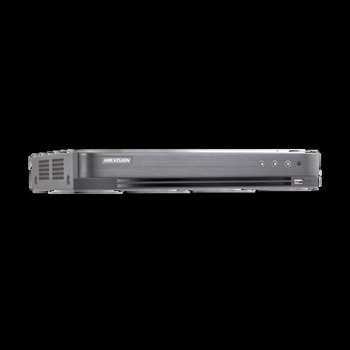 DVR 4 Megapixel / 16 Canales TURBOHD + 8 Canales IP / 1 Bahías de Disco Duro