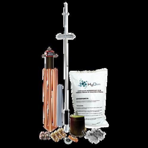 Kit de Pararrayo para Torre o Poste tipo Dipolo Corona TOTAL GROUND