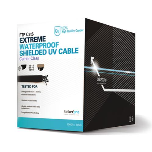 Bobina de cable de 305 m linkedpro  Cat5e, color negro, sin blindar