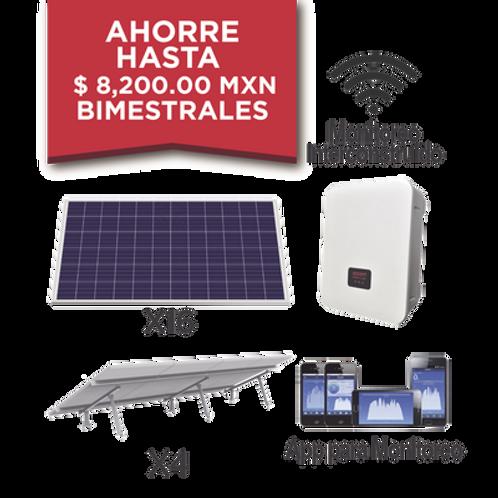 Kit solar para interconexión de 5 KW de potencia, paneles monocristalinos 340, 2
