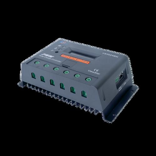 Controlador Solar de Carga y Descarga 12/24V 30A con Display EPEVER