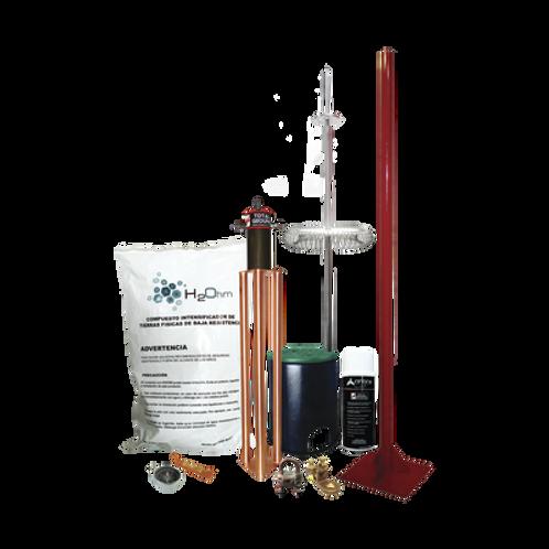 Kit de Pararrayo Dipolo con Electrodo TOTAL GROUND