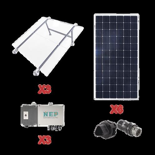 Kit Solar para interconexión de 1.65 kW de Potencia, 220 Vca con Micro Inversore
