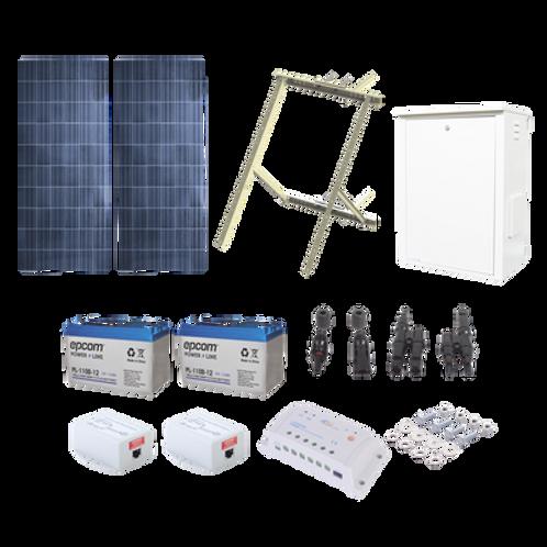 Kit Solar de 17 W con PoE Pasivo 24 Vcd EPCOM POWERLINE
