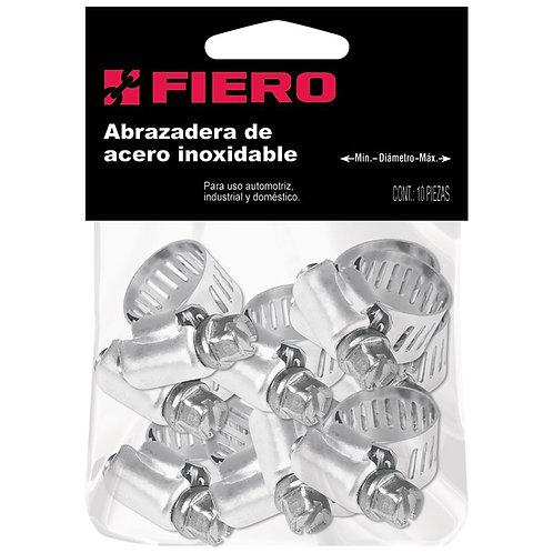 ABRAZADERA DE ACERO INOXIDABLE FIERO 3/8 5/8 AB-04