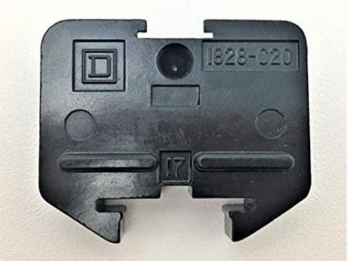 Square D 1828-c20 bloque de terminales Negro