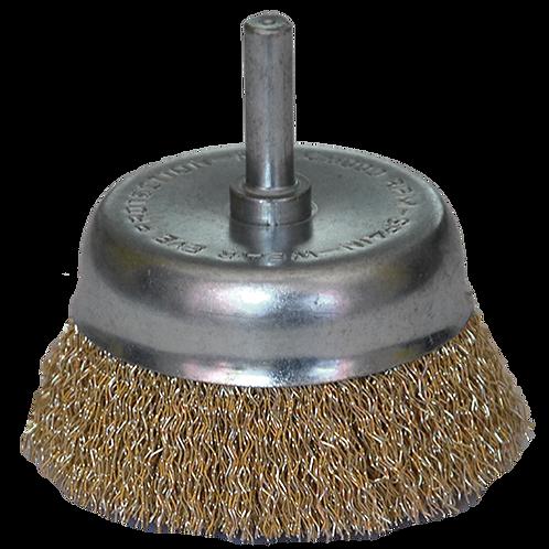 Cepillo tipo copa de alambre ondulado TENAZIT modelo 2860