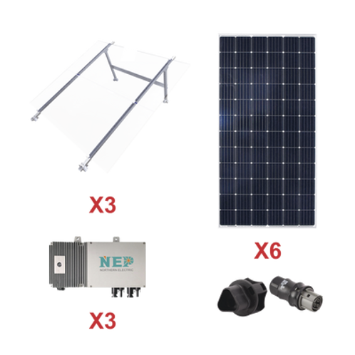 Kit Solar para interconexión de 1.65 kW de Potencia ECO GREEN ENERGY GROUP LIMIT