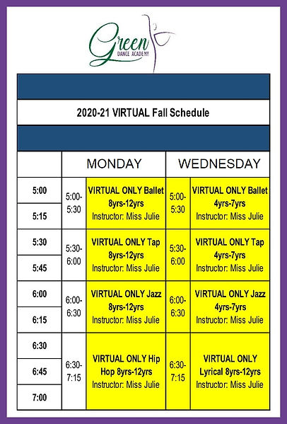 Virtual Fall Schedule 2021 with frame.jp