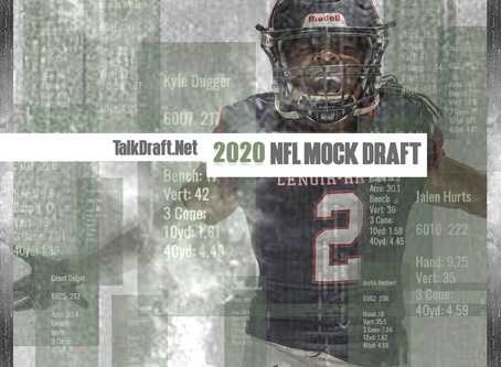 Son Adam's 2020 NFL Mock 1.0