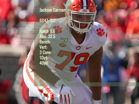 Jackson Carman Scouting Profile
