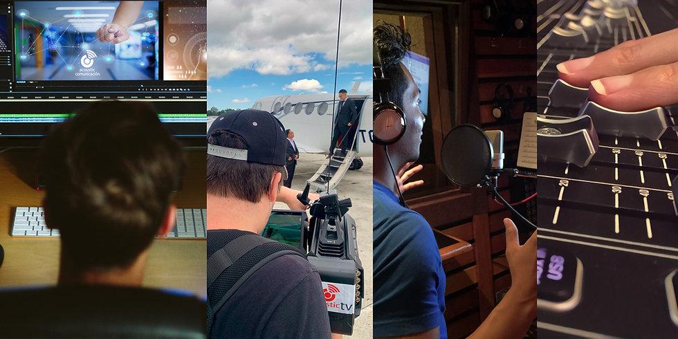 Somos la productora audiovusual y agencia de medios para video, animación, audio, doblajes y eventos
