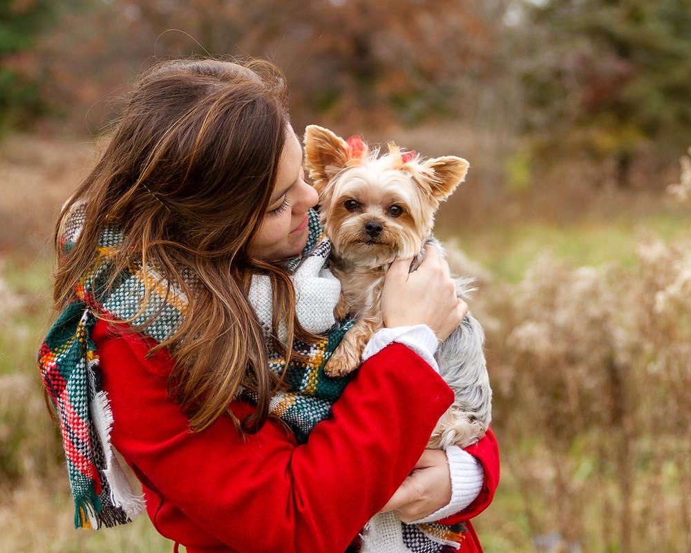 Family pet portrait at Petros Lake Park, Massillon Ohio
