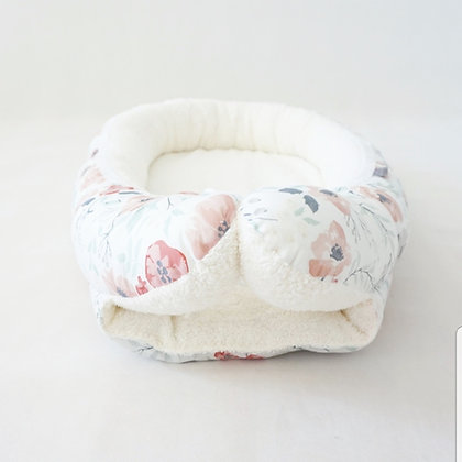 Babynest Mohnblume / Frottee creme