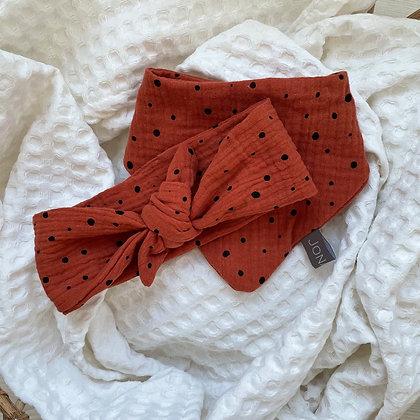 *Set Haarband und Halstuch rot mit Punkten