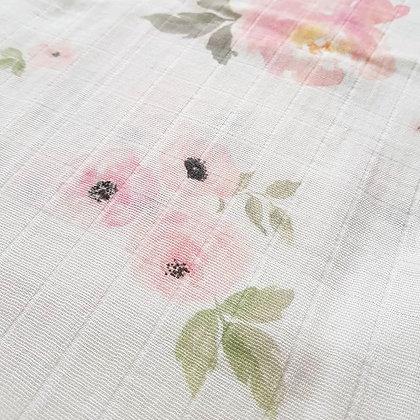 XL Musselintuch Floral aus Bio-Baumwolle