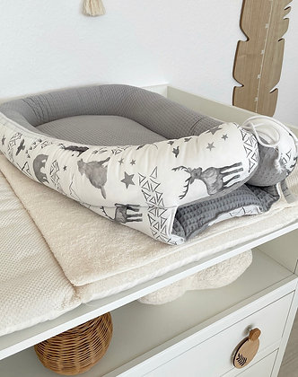 *Babynest Forest / Frottee grau