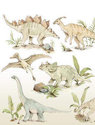 Wandsticker Dino