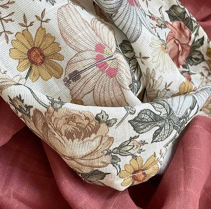 Bio-Musselin Vintage Blumen