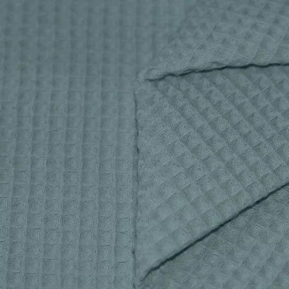 Waffelpiqué Baumwolle altgrün