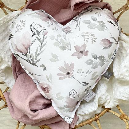 Herzkissen Magnolie