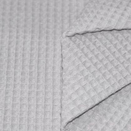Waffelpiqué Baumwolle grau