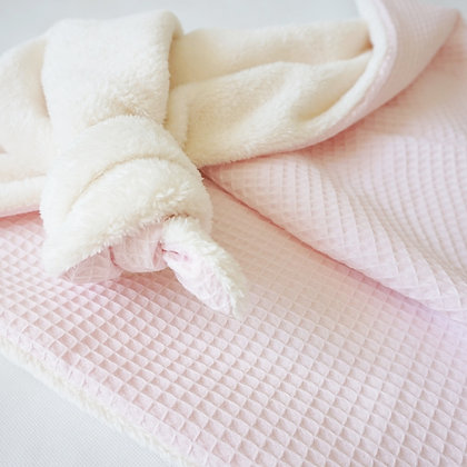 Kuscheldecke Waffelpiqué rosa