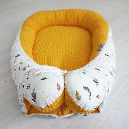 Babynest Blüten / Waffel gelb