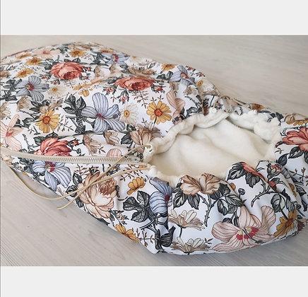 *Fußsack Kinderwagenwanne Vintage Blumen