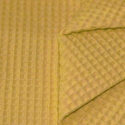 Waffelpiqué Baumwolle gelb