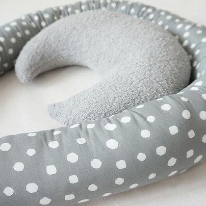 Bettschlange weiße Punkte auf grau