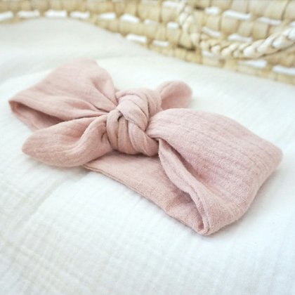 Haarband Musselin altrosa