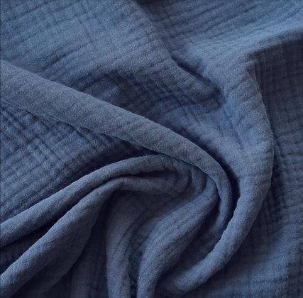 Musselintuch blau 60x60 I 80x80 I 120x120