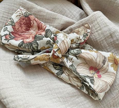 *Haarband Bio-Musselin Vintage Blumen