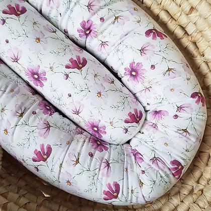 Bettschlange Blumenwiese rosa
