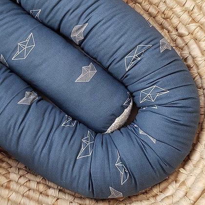 Bettschlange Boote jeansblau
