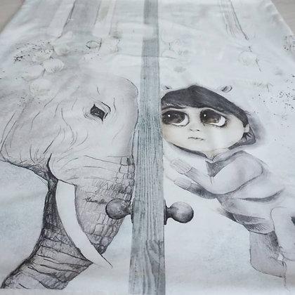 Kuscheldecke Junge mit Elefant