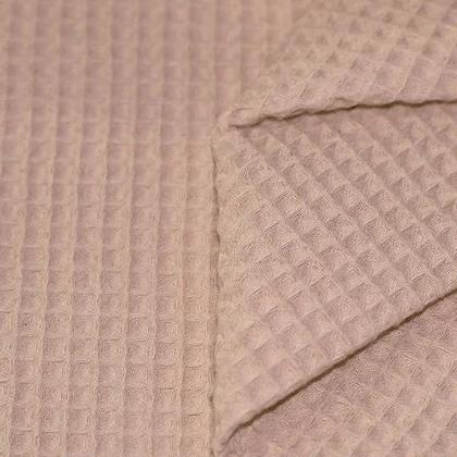 Waffelpiqué Baumwolle beige